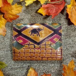 Handbags - Leather imprinted elephant wallet